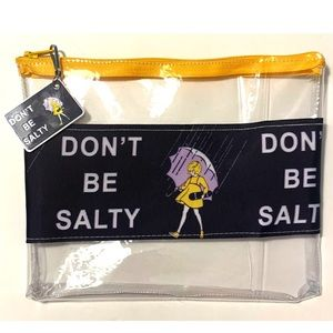 DONT BE SALTY CLEAR ZIP POUCH WITH MATCHING CHARM